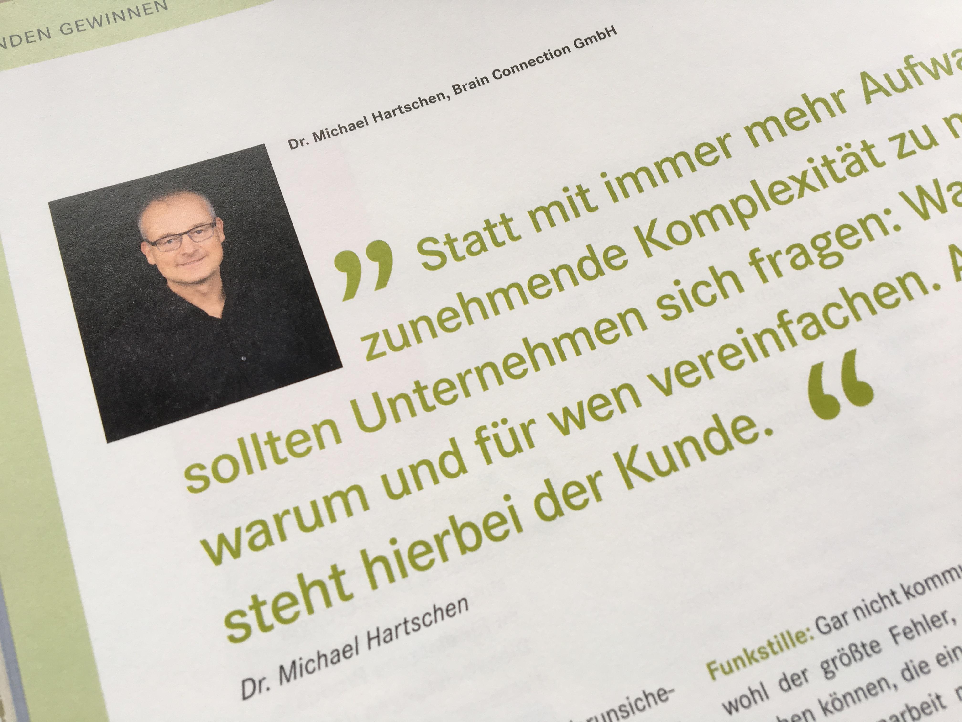 Simplicity Einfachheit Presse Hartschen Stein Magazin