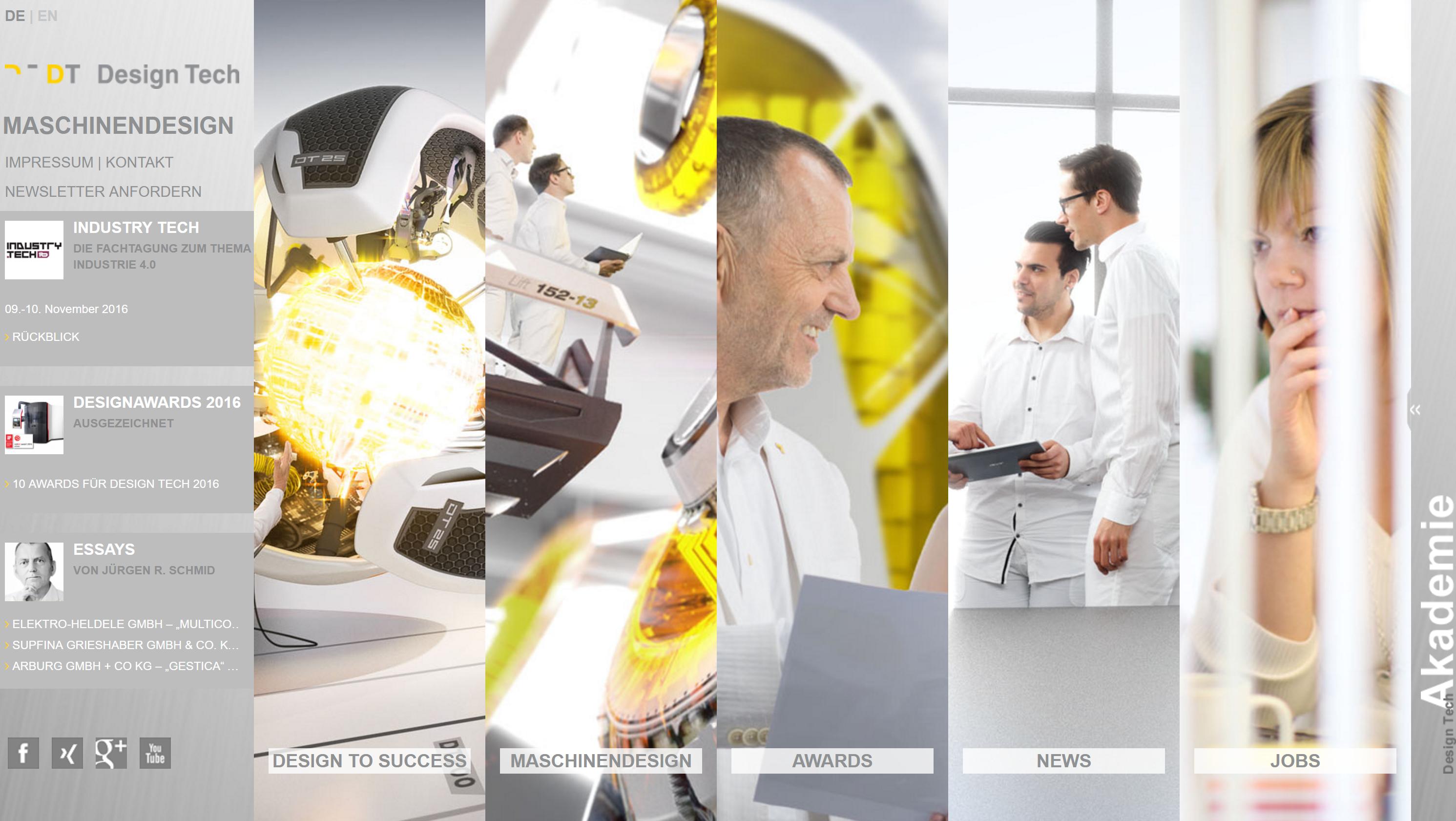 Designtech Hartschen webseite jürgen schmid einfachheit