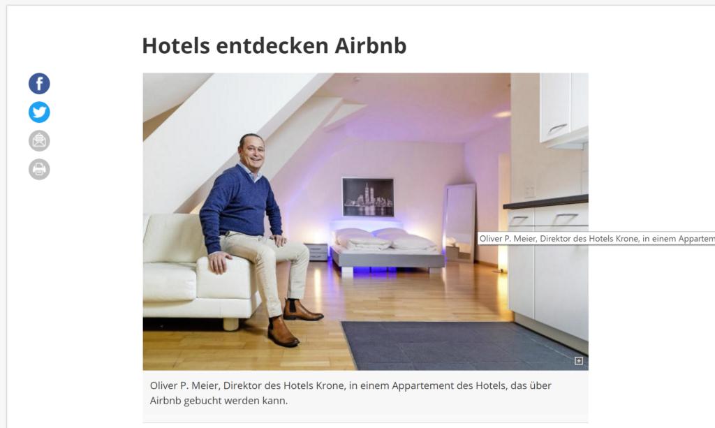 Hotel Airbnb Luzern Zeitung Einfachheit