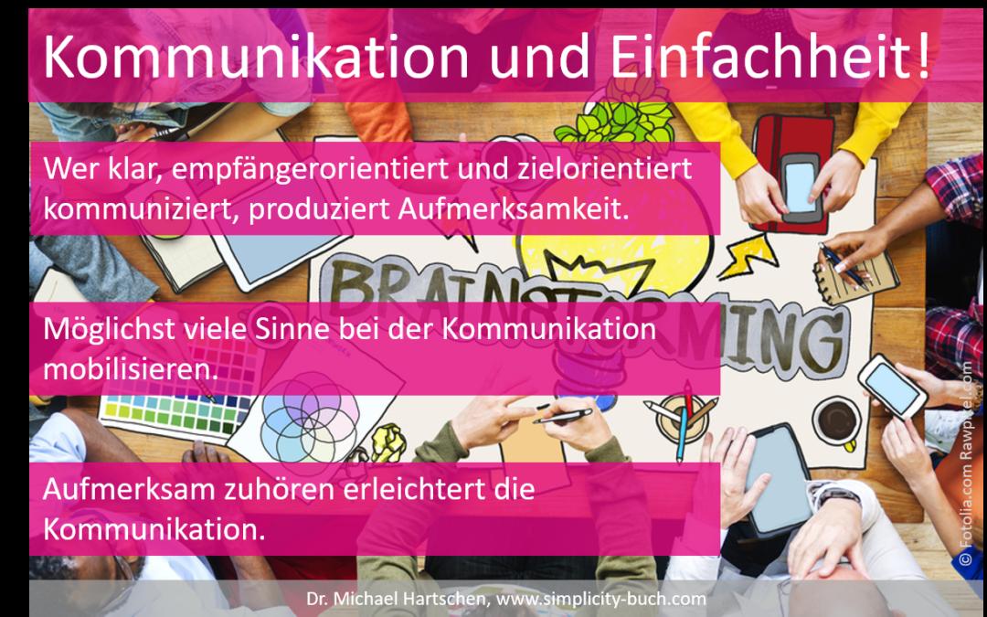 Kommunikation und Einfachheit Hartschen Blog Buch Simplicity Innovation
