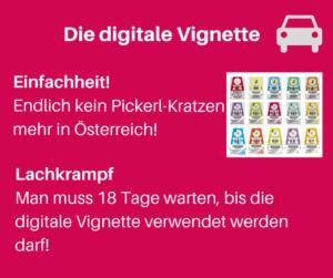 Die digitale Vignette Österreich Einfachheit Pickerl