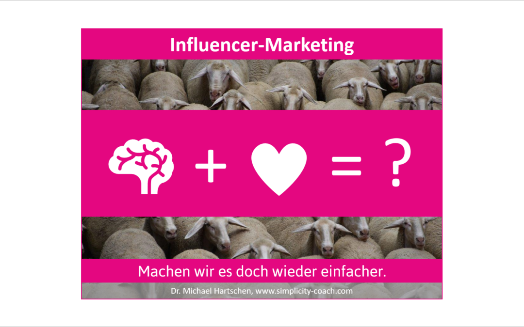 Influencer Marketing Einfachheit Simplicity Innovation Brain Connection