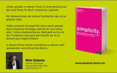 Wim Ouboter zum Simplicity-Buch